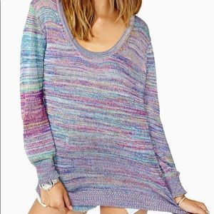 Nasty Gal Multicolored Sweater Purple